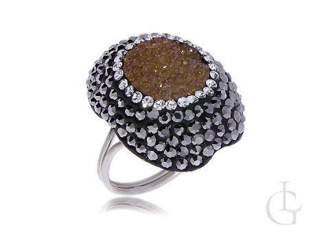 Ekskluzywny srebrny duży pierścionek