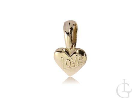 Zawieszka złota serca na łańcuszek