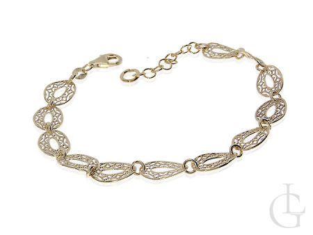 Zmysłowa bransoletka damska ze srebra pozłacana