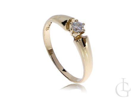 Ekskluzywny złoty pierścionek zaręczynowy