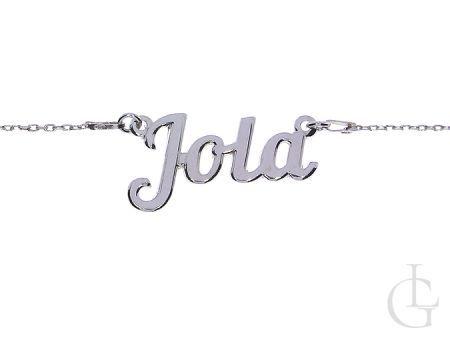 Jola łańcuszek damski srebro rodowane pr.0,925 z imieniem