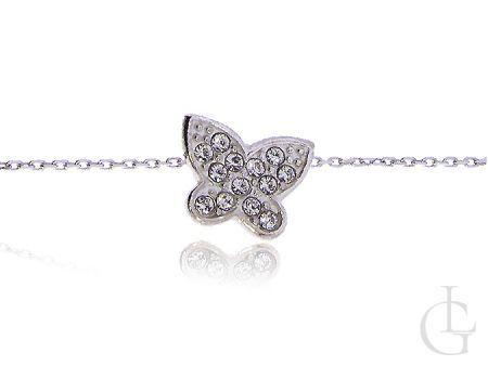 Srebrny motyl naszyjnik celebrytka damski srebrny