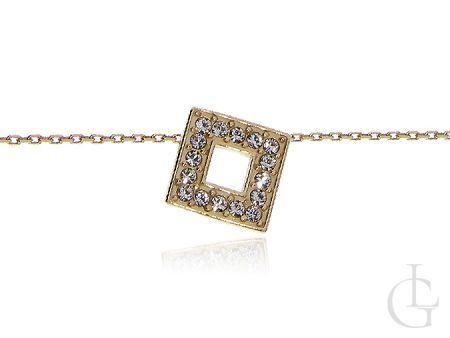 Srebrny damski naszyjnik - łańcuszek z wisiorkiem celebrytka