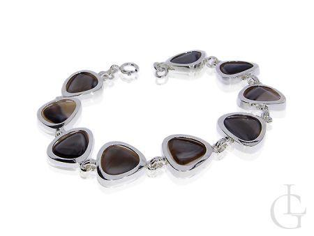 Ekskluzywna bransoletka srebrna damska- kamień kwarc