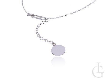 Naszyjnik srebrny damski łańcuszkowy z pomysłowym zapięciem na spinacz