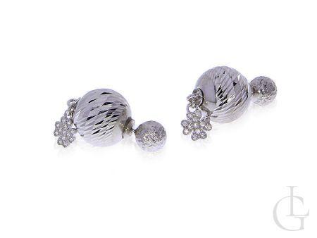 Oryginalne kolczyki srebrne damskie tribal ball kulki