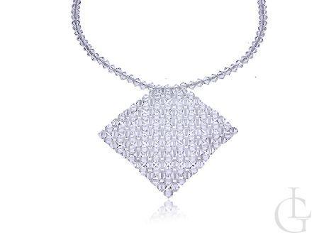 Naszyjnik damski kolia kryształy Swarovskiego