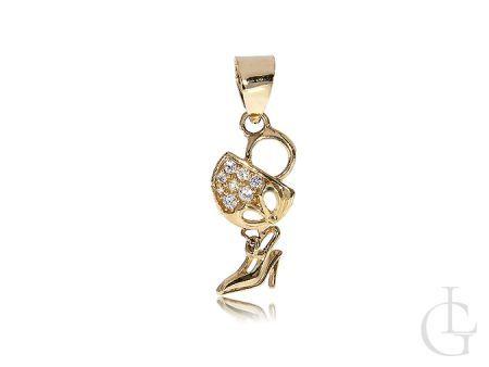 Złota zawieszka but bucik na łańcuszek złoto 14K