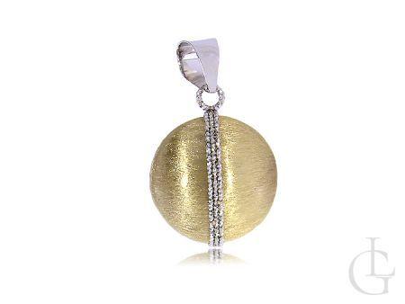 Złota zawieszka na łańcuszek żółte białe złoto 14K