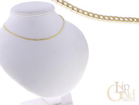 Złoty łańcuszek na zawieszkę złoto 14K złota pancerka