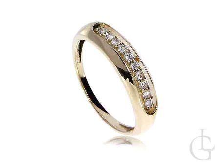 Złoty pierścionek na zaręczynowy z cyrkoniami złoto 14K