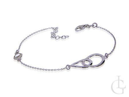Bransoletka srebrna łańcuszek celebrytka przywieszka do bransoletki