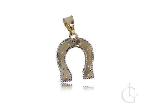 Podkowa na szczęście złota zawieszka wisiorek na łańcuszek