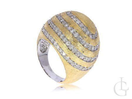Srebrny pierścionek duży pozłacany srebro 925 cyrkonie