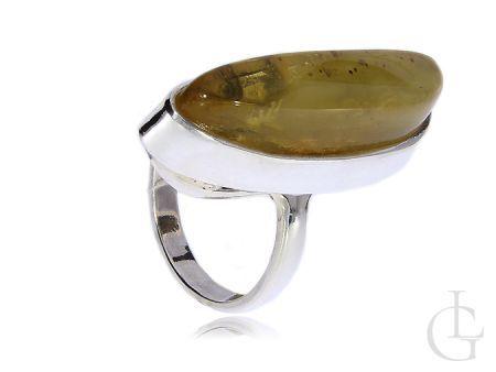Srebrny pierścionek zielony kamień srebro 925