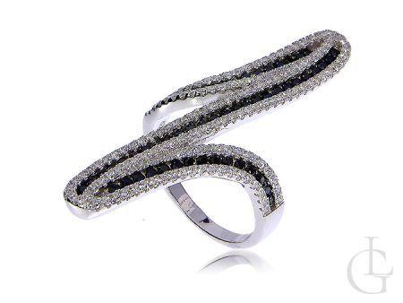 Nowoczesny pierścionek srebrne szeroki srebro 0.925