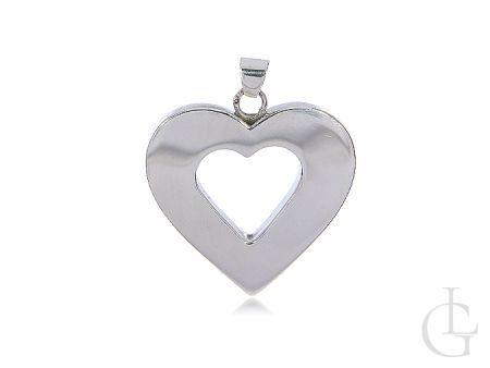 Serce zawieszka srebrna na łańcuszek 0.925