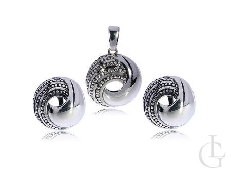 Komplet biżuterii srebro 0.925 wisiorek kolczyki