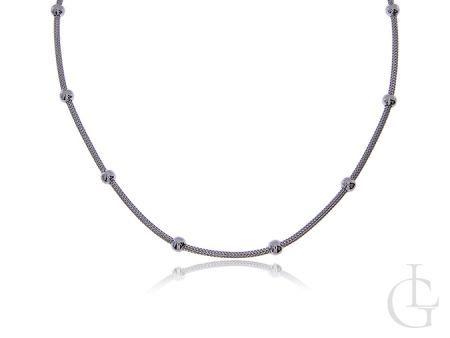 Srebrny naszyjnik damski z kuleczkami srebro 0.925