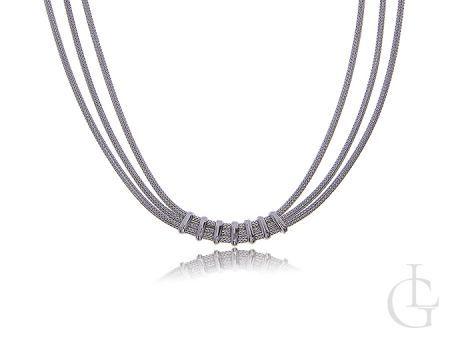 Srebrny naszyjnik damski szeroki srebro 0.925