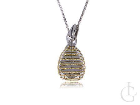 Naszyjnik damski srebrny pozłacany wisiorek srebro 0.925