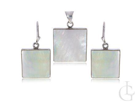 Komplet biżuterii srebrnej kolczyki wisiorek na łańcuszek srebro 925