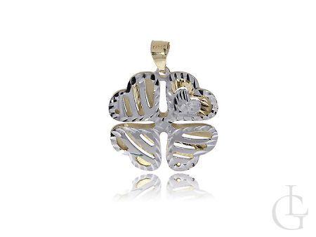 Czterolistna koniczyna złoty wisiorek na łańcuszek złoto białe żółte 14K