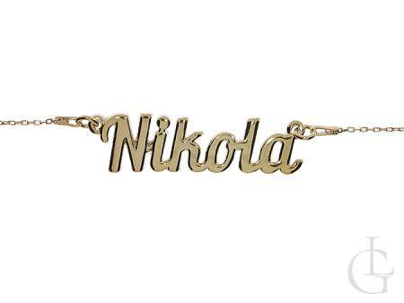 Nikola naszyjnik srebrny damski pozłacany srebro 0.925