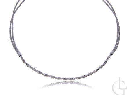 Elegancki naszyjnik srebrny damski zawijany srebro 0.925