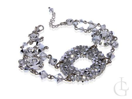 Ekskluzywna bransoletka srebrna Swarovski kryształy