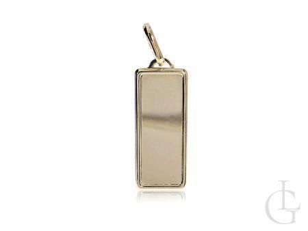 Zawieszka złota blaszka prostokąt na łańcuszek złoto 585 14K