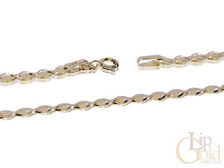 Złoty elegancki łańcuszek DMUCHANY pr.0,585 KOMUNIA ŚWIĘTA