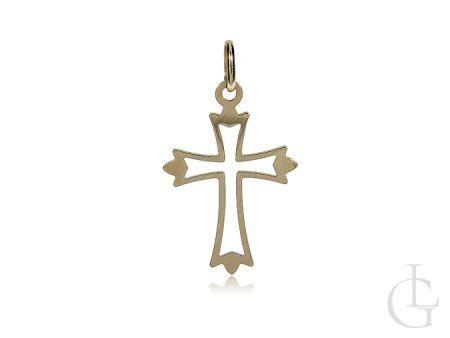 Krzyżyk złoty pr.0,585 na Chrzest Święty I Komunię Świętą