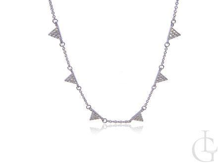 Naszyjnik srebrny z cyrkoniami celebrytka