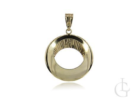 Złoty wisiorek diamentowany okrągły