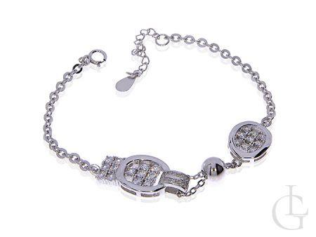 Elegancka bransoletka łańcuszkowa ze srebra rodowanego pr.0,925