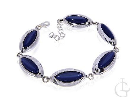 Bransoletka srebrnapr.0,925 z błękitnym kamieniem ULEKSYT