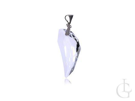 Okazały wisior klasyczny kryształ Swarovskiego srebro pr.0,925