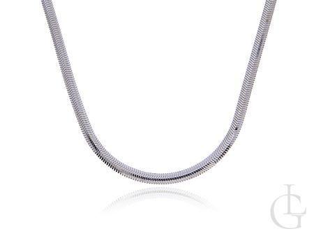 Łańcuszek damski ze srebra pr.0,925 półokrągła taśma