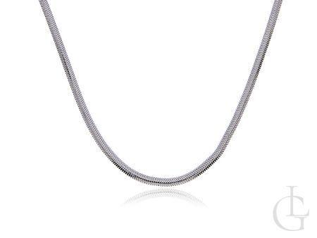 Łańcuszek ze srebra pr.0,925 wyoblona taśma
