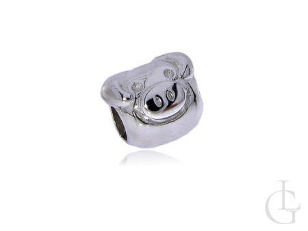 Przywieszka do bransoletki modułowej charms srebro pr.0,925 świnka