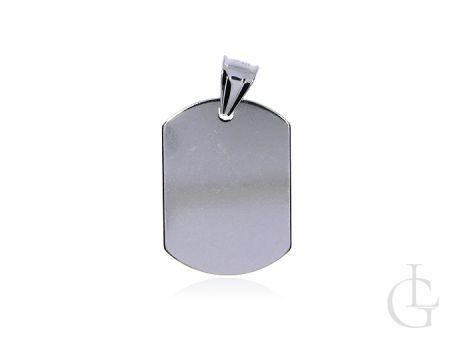 Wisior blaszka nieśmiertelnik do graweru srebro pr.0,925 prezent
