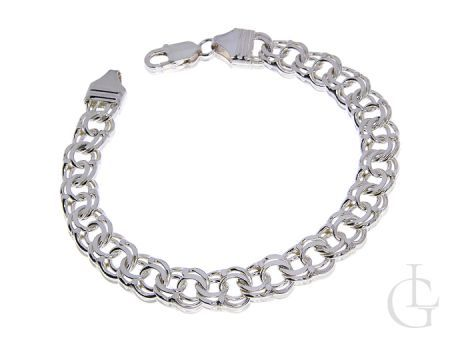 Srebrna bransoleta łańcuszkowa pr.0,925 podwójna GALIBARDI