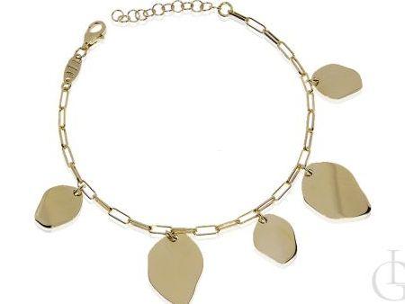 Bransoletka łańcuszkowa choker ze srebra pozłacanego pr.0,925 prezent