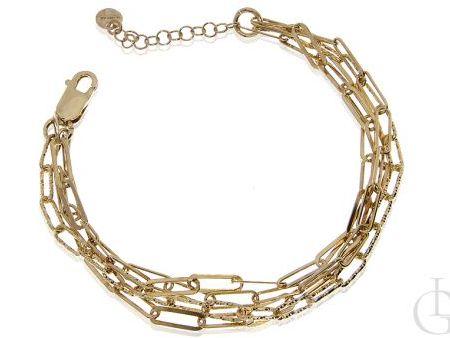 Bransoleta łańcuszkowa ze srebra pr.0,925 pozłacanego 18 ct zlotem