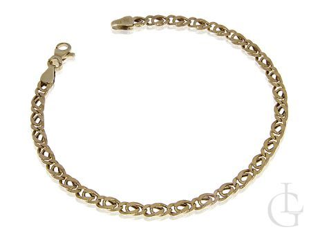 Złota bransoleta pr.0,585 o pełnym splocie TIGRA