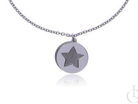 Naszyjnik srebro rodowane pr.0,925 celebrytka z gwiazdką