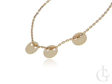 Srebrny naszyjnik celebrytka pozłacana z kółeczkami- choker z kółeczkami