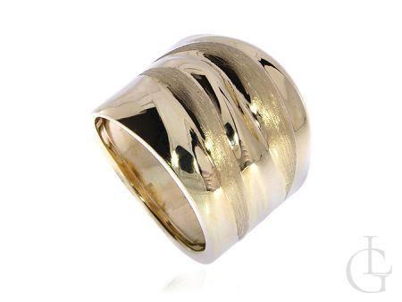 Okazały złoty pierścionek pr.0,585