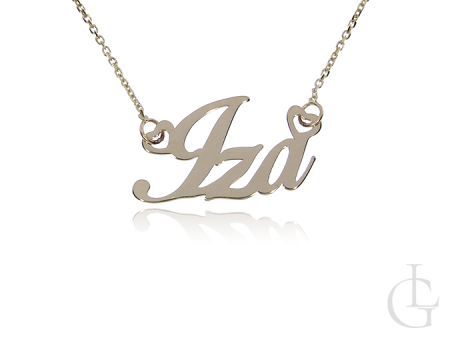Iza złota celebrytka pr.0,585 naszyjnik łańcuszek z imieniem napisem